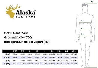Maattabel Alaska Elk jachtkleding