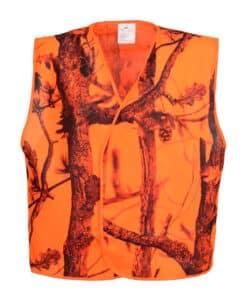 Percussion oranje camouflage vest